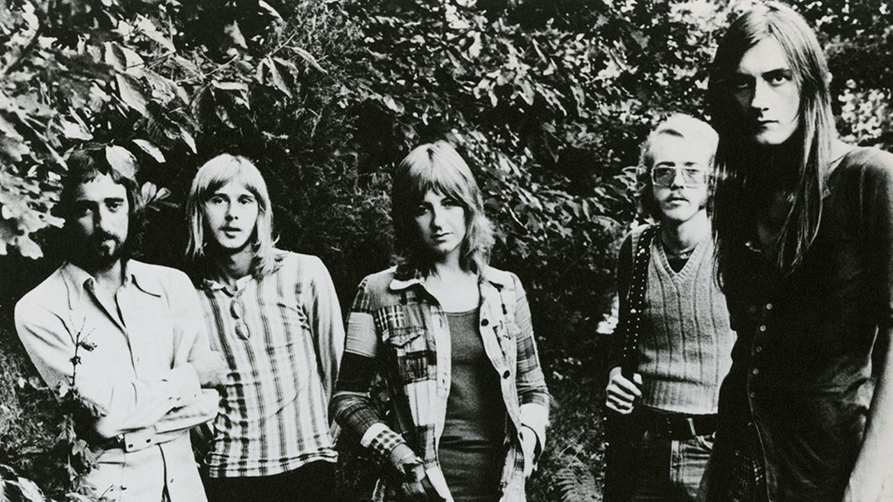 De gauche à droite: John McVie, Danny Kirwan, Stevie Nicks, Bob Welch, Mick Fleetwood en 1971.