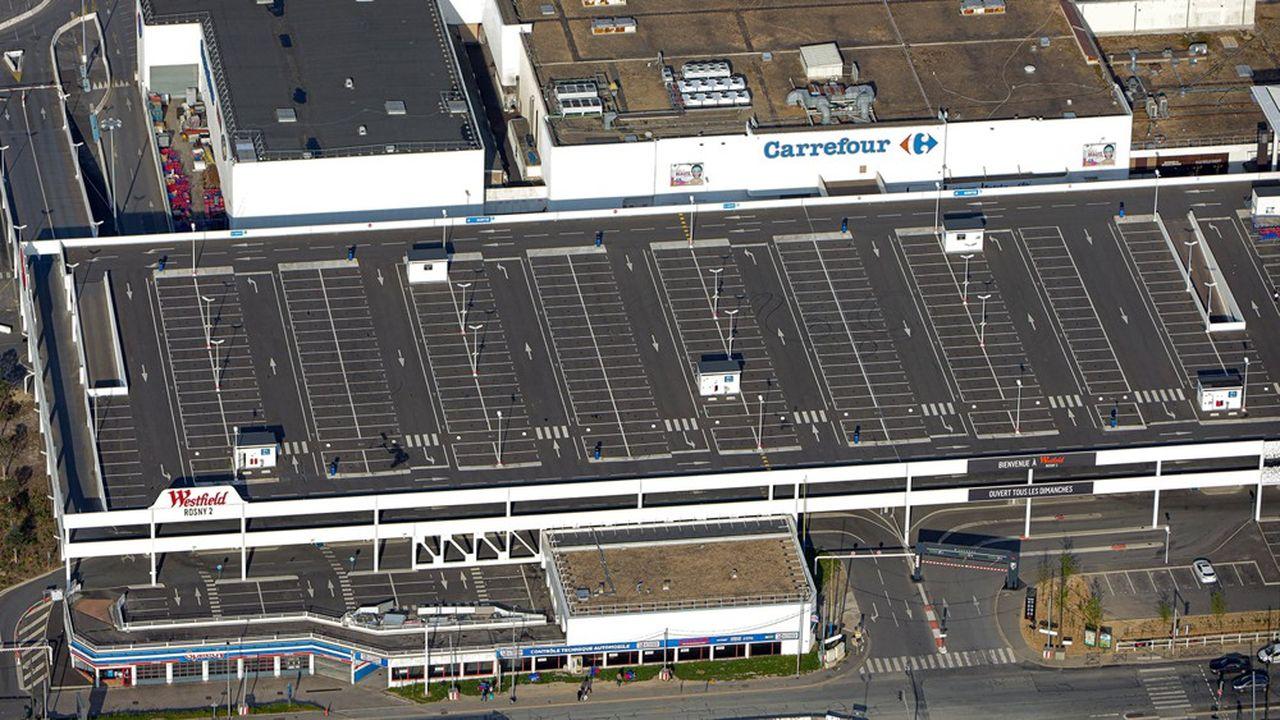 Le centre commercial Westfield Rosny 2, Rosny-sous-Bois (Seine-Saint-Denis).