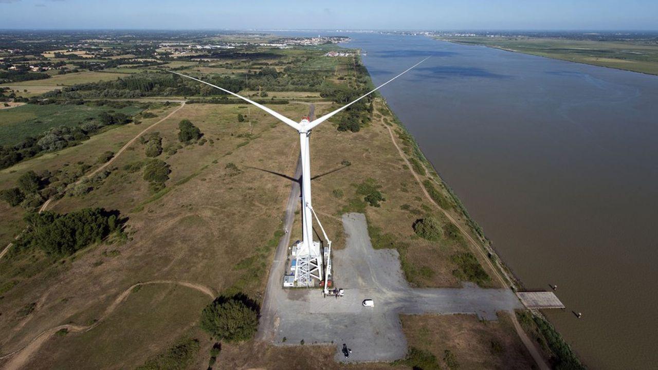 Pour l'heure, l'unique occupant du site est GE qui teste depuis plusieurs années une éolienne géante, laquelle sera démontée à terme.