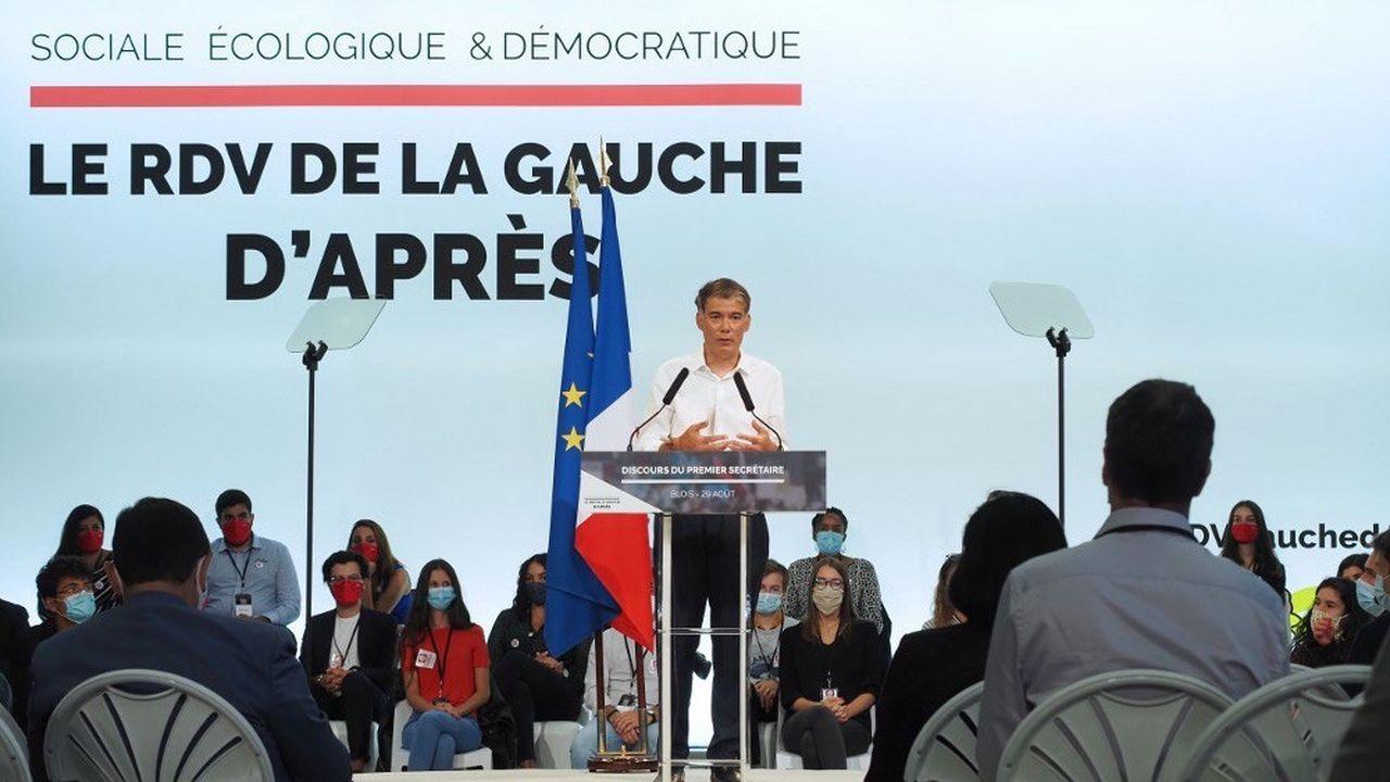 Olivier Faure s'est exprimé ce samedi à Blois, pour la rentrée du PS.