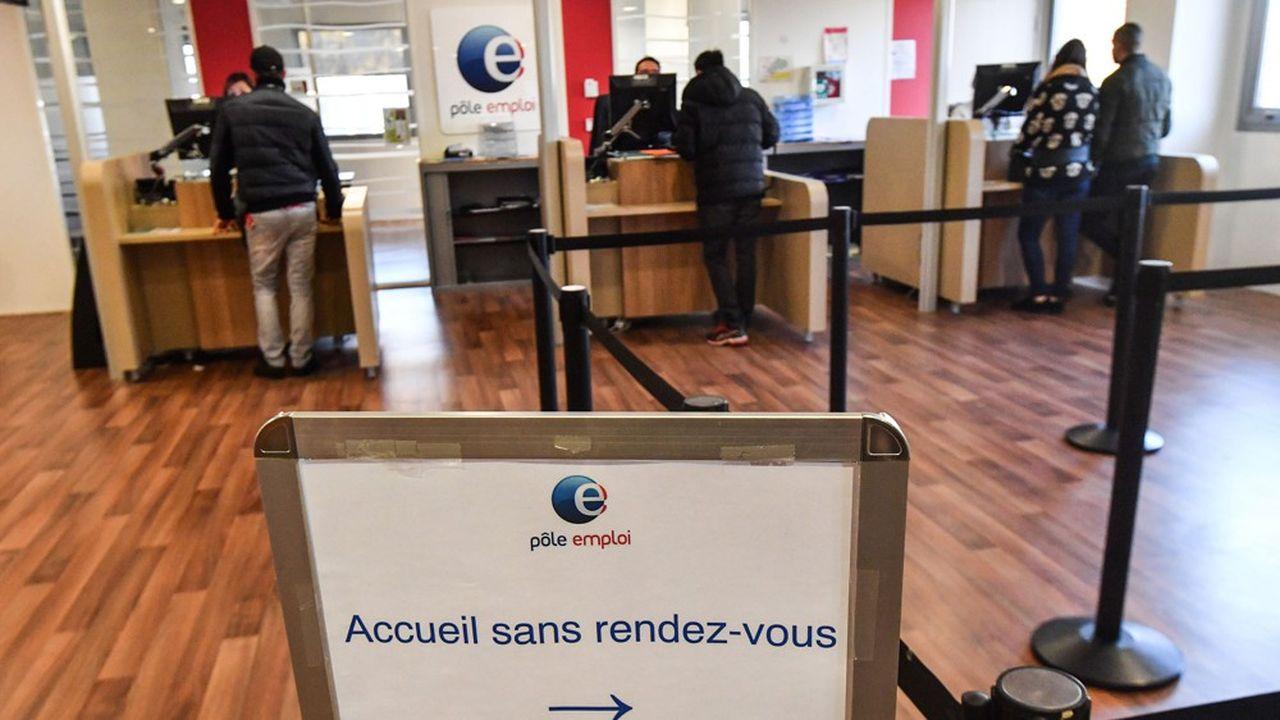 Une agence Pôle emploi à Montpellier (Hérault).