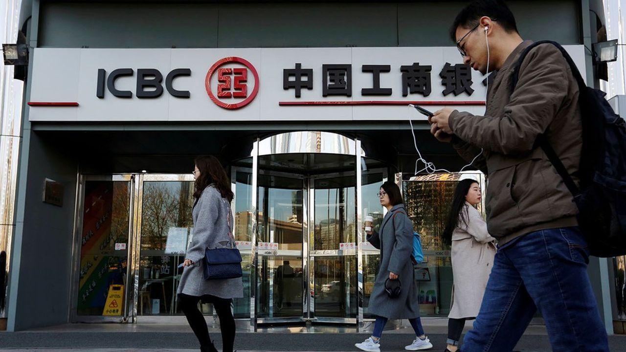 Industrial and Commercial Bank of China (ICBC), la plus grosse banque chinoise en termes d'actifs, a vu son bénéfice fondre de 11,2% sur un an.