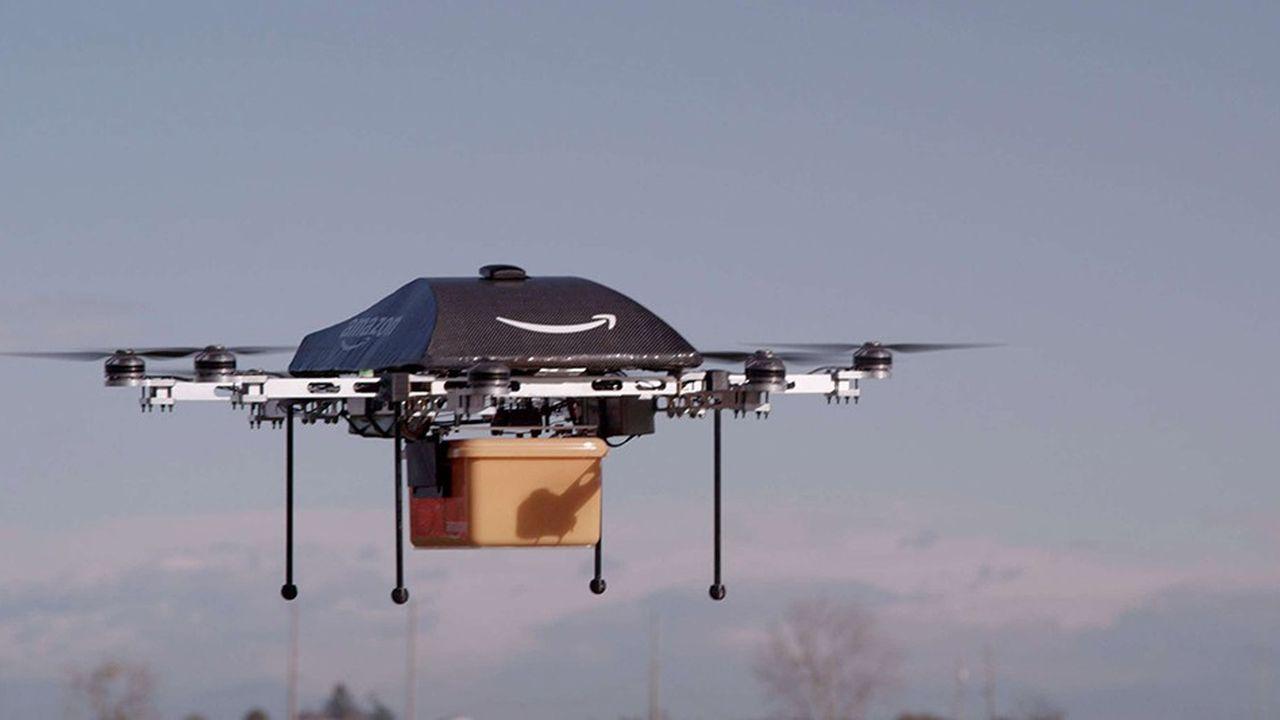 Le prototype de drone de livraison d'Amazon peut transporteur un colis de 2kg sur 25km.