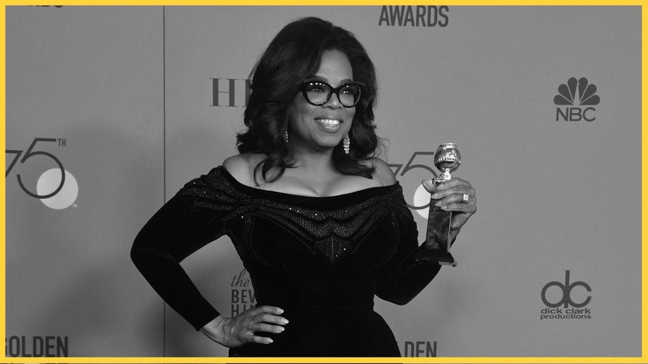 L'actrice et présentatrice Oprah Winfrey à la 75ème édition des Golden Globe Awards le 7 janvier 2018, à Beverly Hills en Californie.