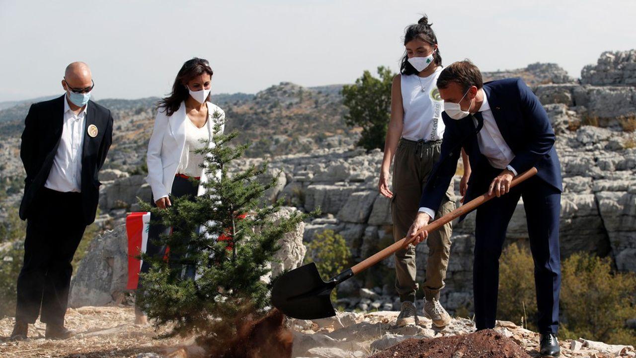 A Beyrouth, le président français Emmanuel Macron a célébré mardi le centenaire de la proclamation du Grand Liban en plantant un cèdre, emblème du pays.
