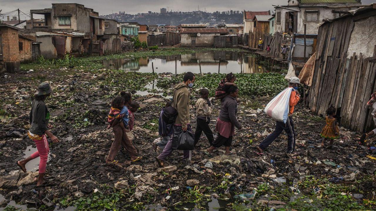 Le quartier d'Anjezika à Antananarivo, Madagascar, en mai 2020.