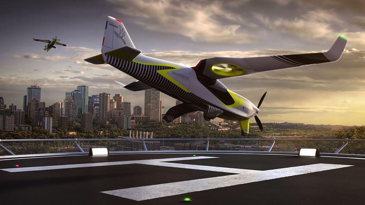 L'Atea est un taxi volant en composites de quatre places avec une charge utile de 450kg, qui décolle et atterrit à la verticale grâce à des turbopropulseurs verticaux intégrés dans les ailes.