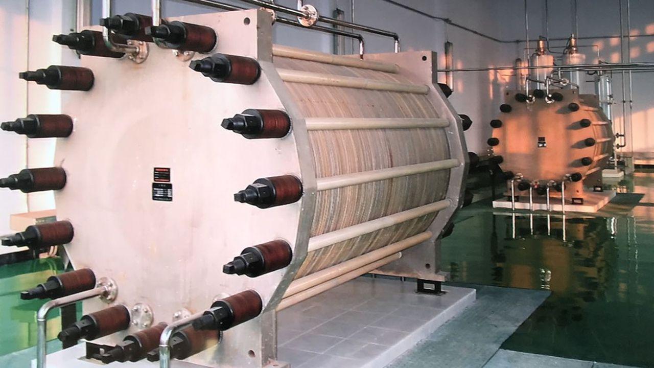 L'un des électrolyseurs de production d'hydrogène prévus pour les usines de H2V.