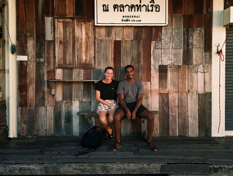 Sophie et Yann, à Nong Khai, le long du Mékong, au nord-est de la Thaïlande.