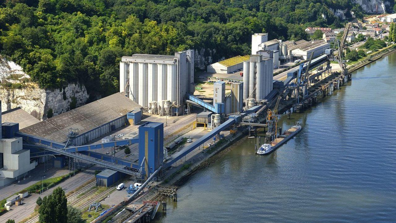Le port de Rouen a entrepris de mettre au gabarit le terminal du groupe Soufflet, le deuxième opérateur de céréales du port.