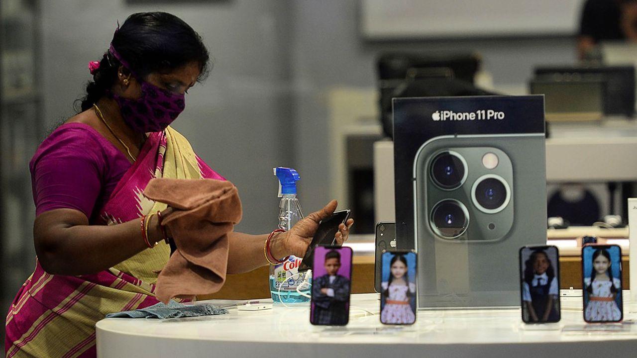 Un App Store à Chennai en Inde du Sud.
