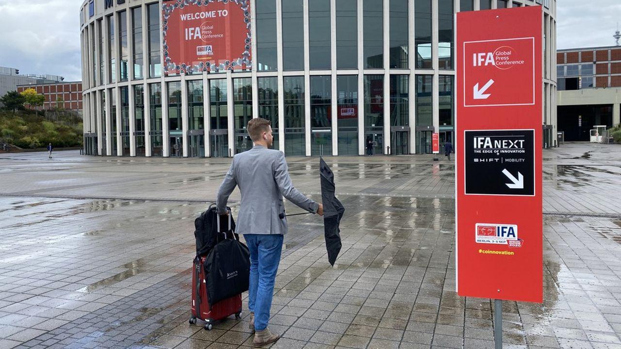 Seule une poignée de «VIP» a été conviée pour approcher les nouveaux produits présentés par les marques qui ont maintenu leur participation à l'IFA de Berlin.