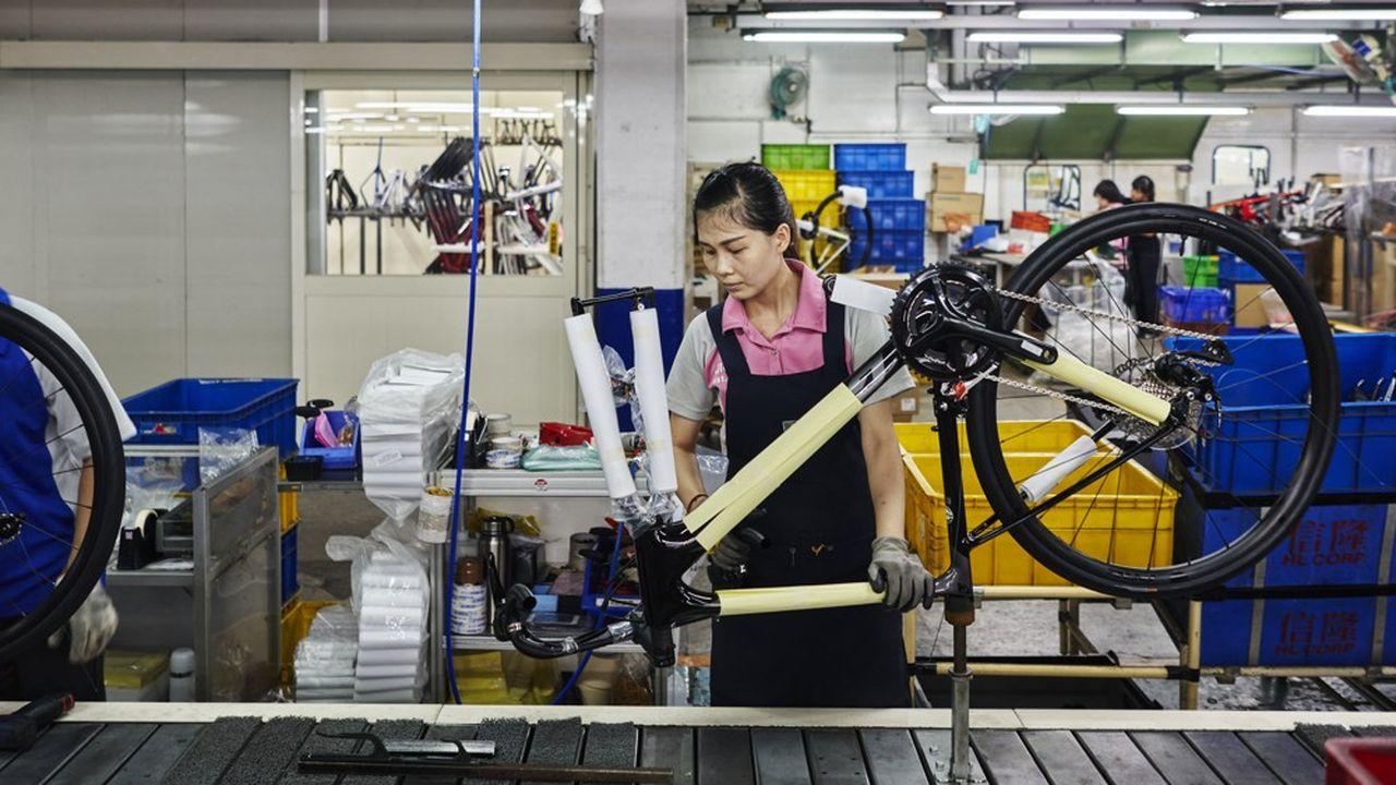 La Chine produit environ la moitié des vélos dans le monde, selon l'association chinoise du secteur. En 2018, elle en aurait exporté plus de 60millions.