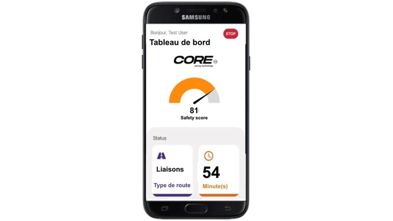 La mesure de la variabilité du rythme cardiaque est prise via une montre au poignet du chauffeur, connectée en Bluetooth à une application sur téléphone mobile, qui va l'alerter par un message.