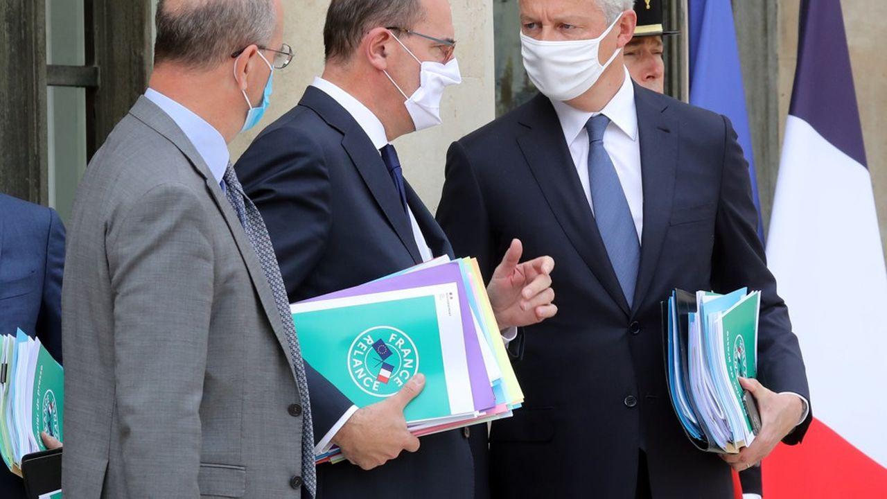 Bruno Le Maire, en compagnie de Jean Castex, a détaillé certaines mesures du plan de relance.