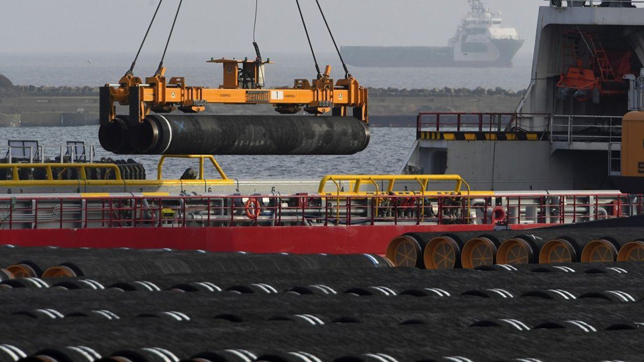 En phase finale de construction, le chantier gazier entre Russes et Occidentaux Nord Stream 2 est désormais menacé par les conséquences de l'empoisonnement de l'opposant Navalny en Russie.