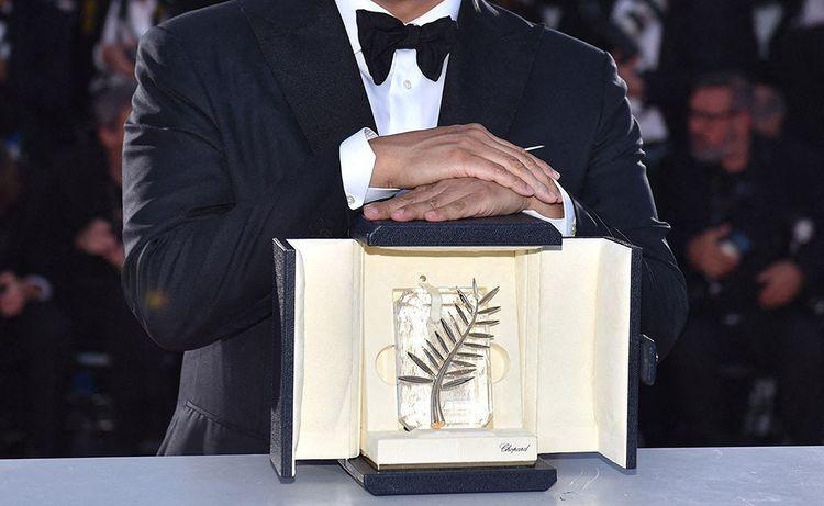 Cannes, mai 2019: Palme d'or remise au cinéaste coréen Bong Joon-ho pour son film Parasite.