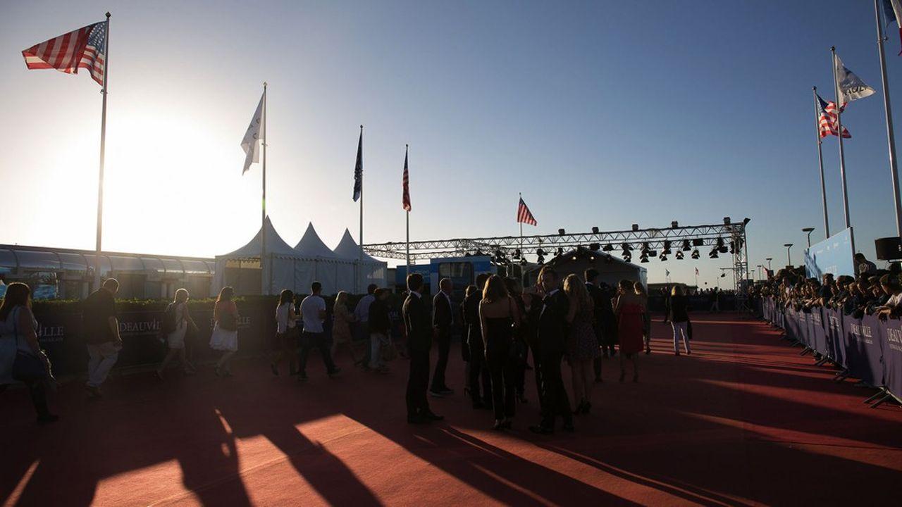 Le tapis rouge du Festival du film américain de Deauville (Calvados).