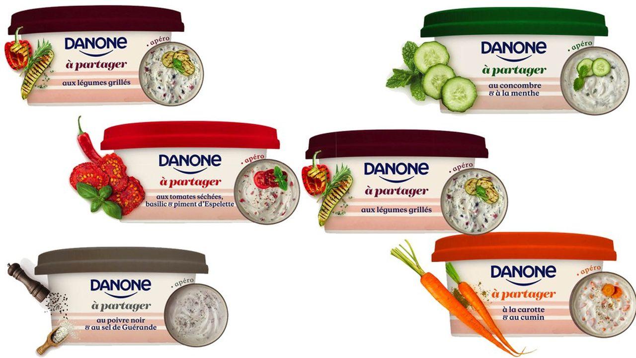 Sur un marché réclamant de la variété, Danone a lancé d'emblée une gamme de six produits.