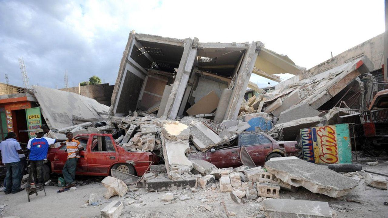 Port-au-Prince le 13janvier 2010, peu après le tremblement de terre.