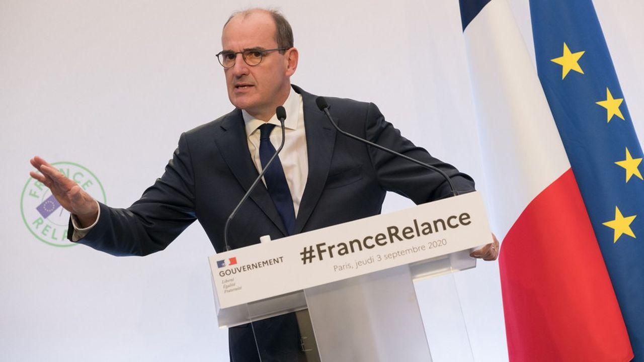 Le Premier ministre Jean Castex lors de la présentation officielle du plan de relance du gouvernement, le 3 septembre à Paris.