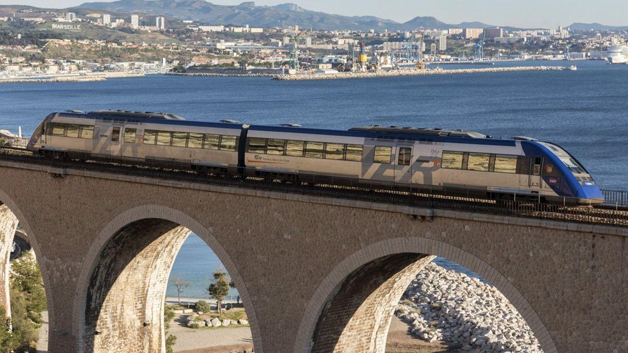 Les TER dans la région Provence-Alpes-Côte d'Azur transportent chaque jour quelque 150.000 passagers.