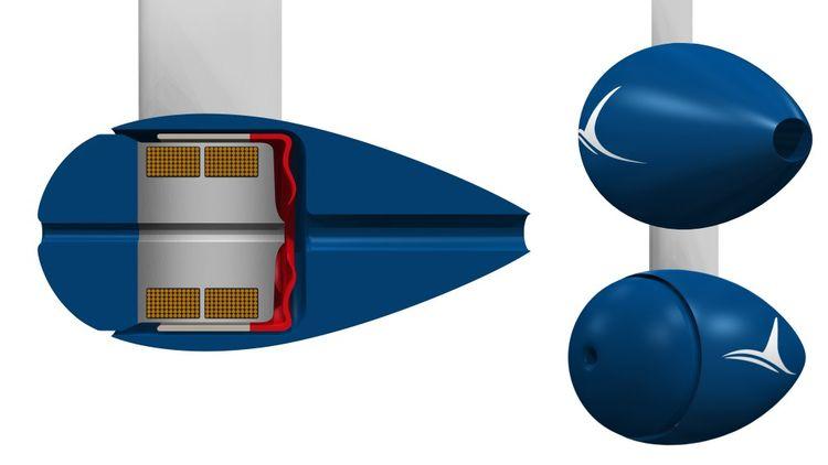 Inspirée du mouvement de la nageoire des poissons, la membrane située au centre du moteur de FinX ondule à haute fréquence grâce à l'eau qui est aspirée et expulsée par les deux extrémités.