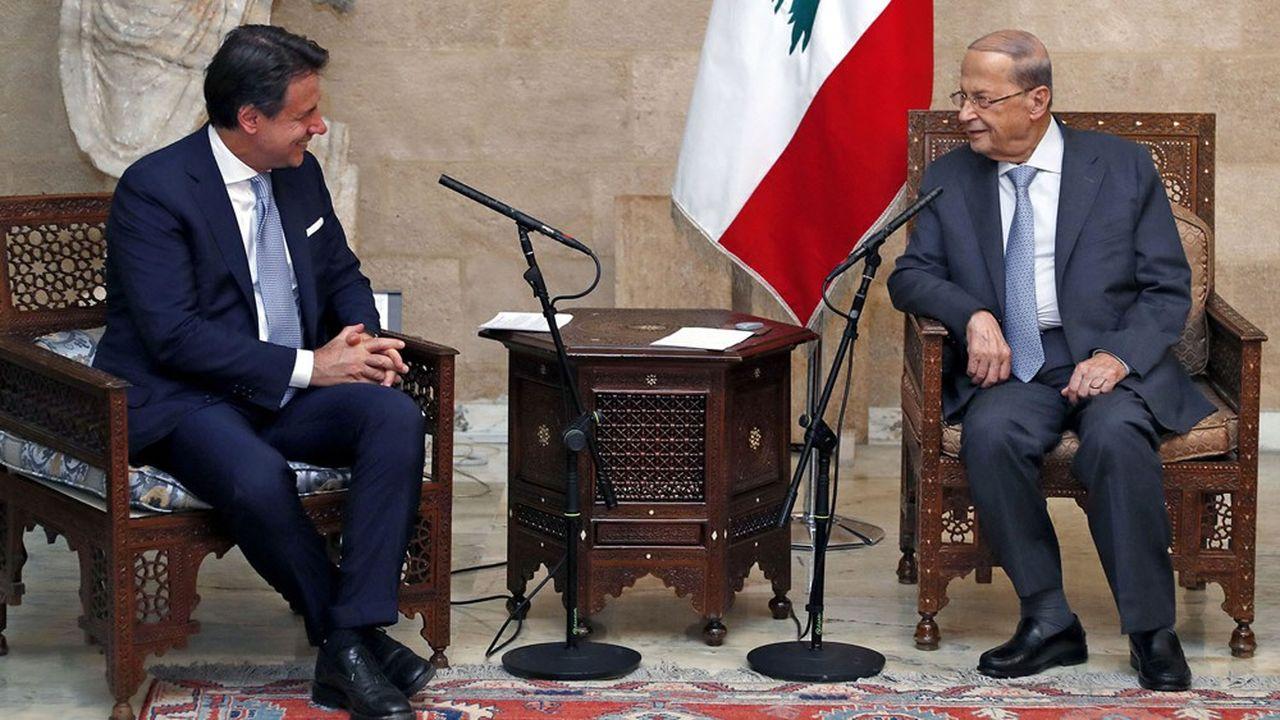Le président du Conseil italien, Giuseppe Conte a été reçu mardi par le président libanais, Michel Aoun au palais présidentiel.