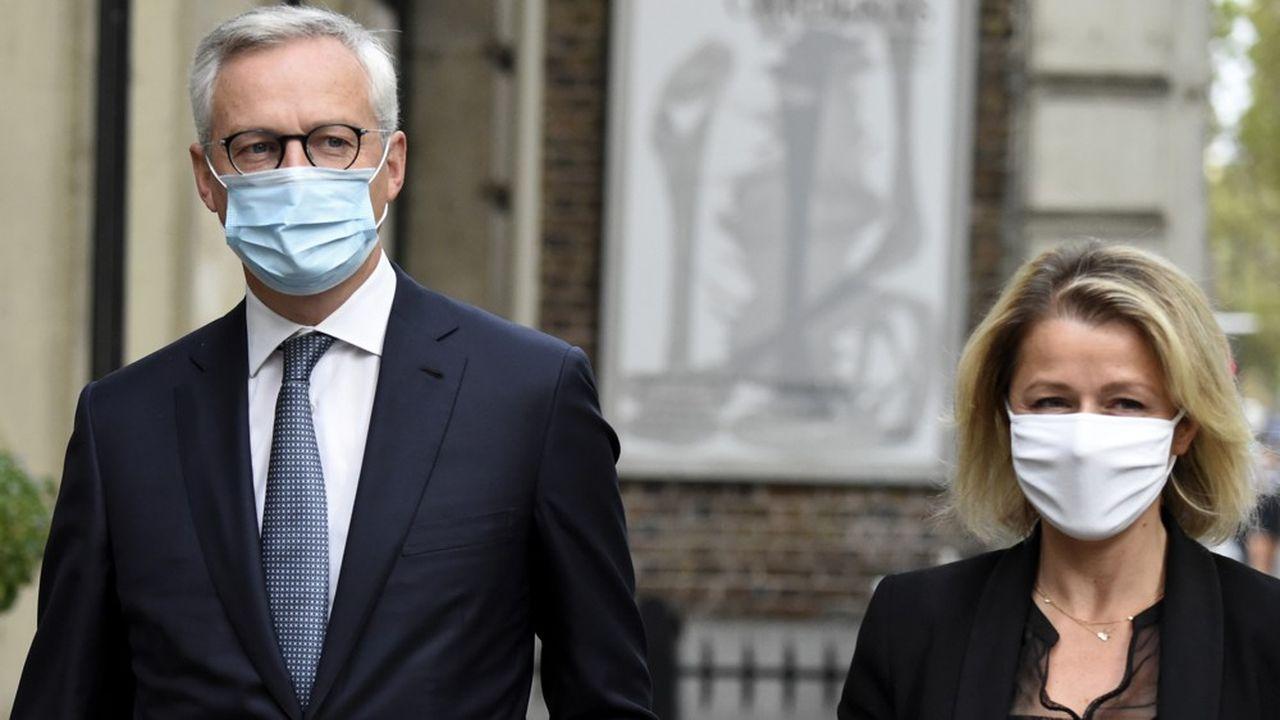 Bruno Le Maire, ministre de l'Economie, et Barbara Pompili, ministre de la Transition écologique, ont présenté le plan hydrogène de 7milliards ce mardi 8septembre.