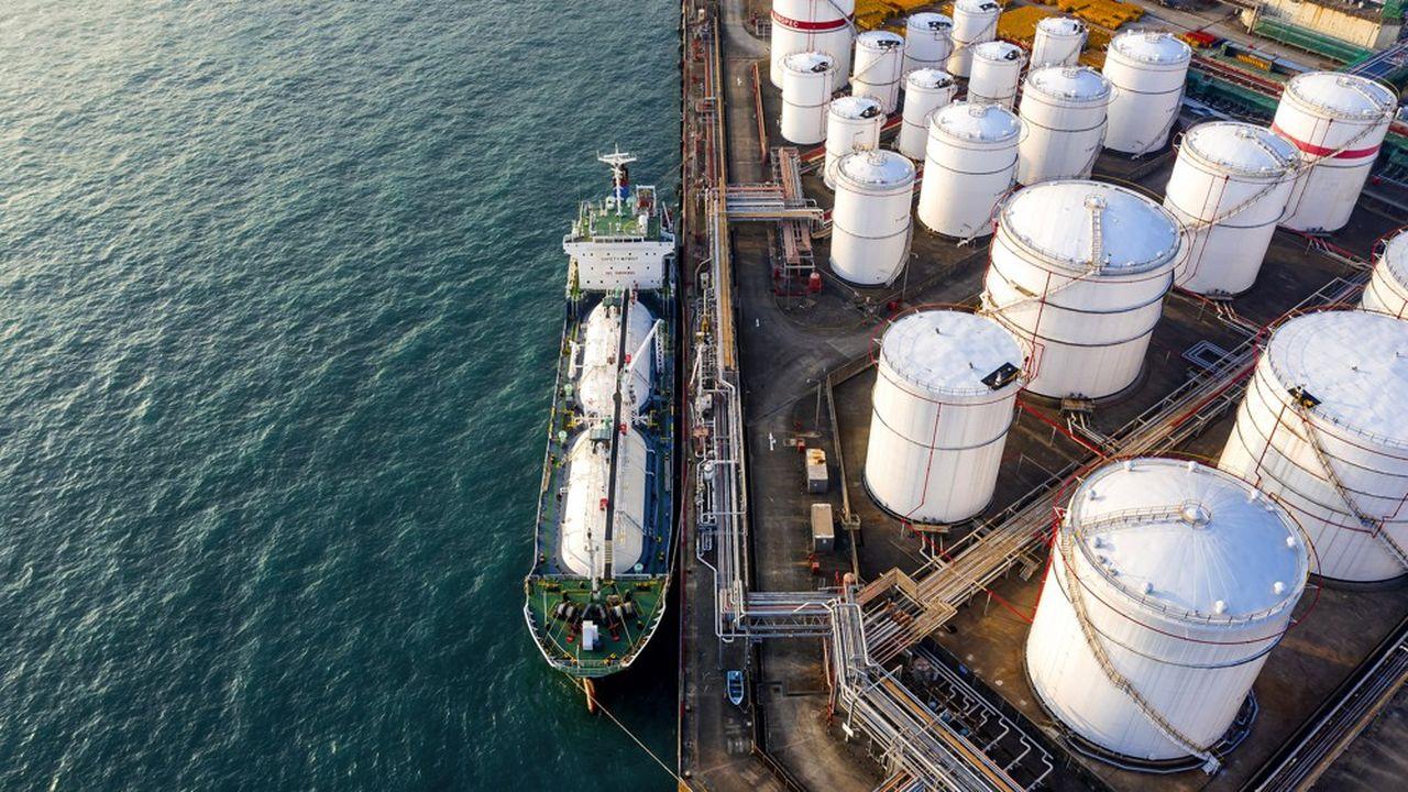 Une infrastructure de stockage d'hydrocarbures à Hong Kong.