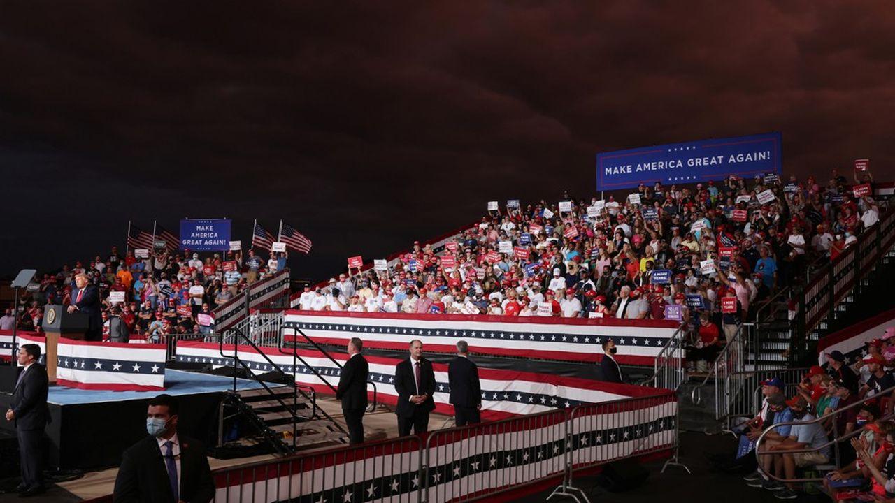 Un rallye électoral républicain à Winston-Salem, en Caroline du Nord, le 8septembre 2020, où Donald Trump est venu faire campagne.