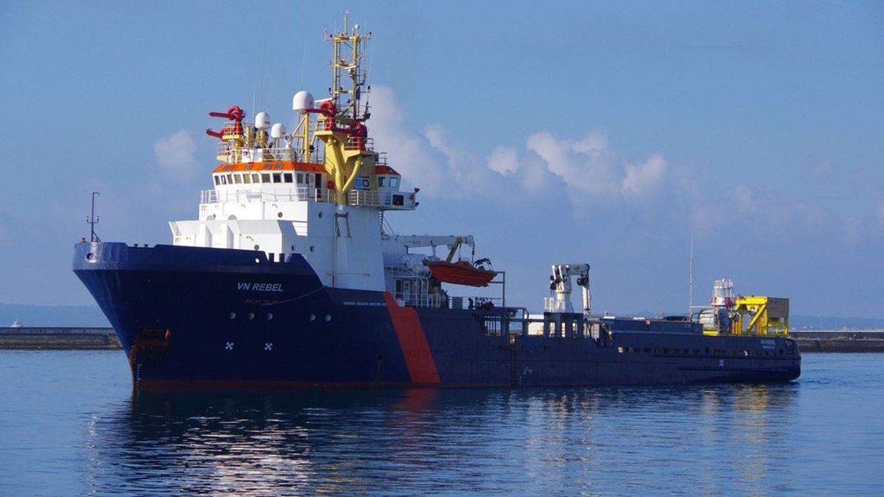 Le « VN Rebel », un bâtiment de 80 mètres de long servant d'ordinaire à remorquer et ancrer les plateformes pétrolières, va effectuer trois « démonstrations de faisabilité » de 45 minutes. Sa particularité: Il n'aura personne à bord.