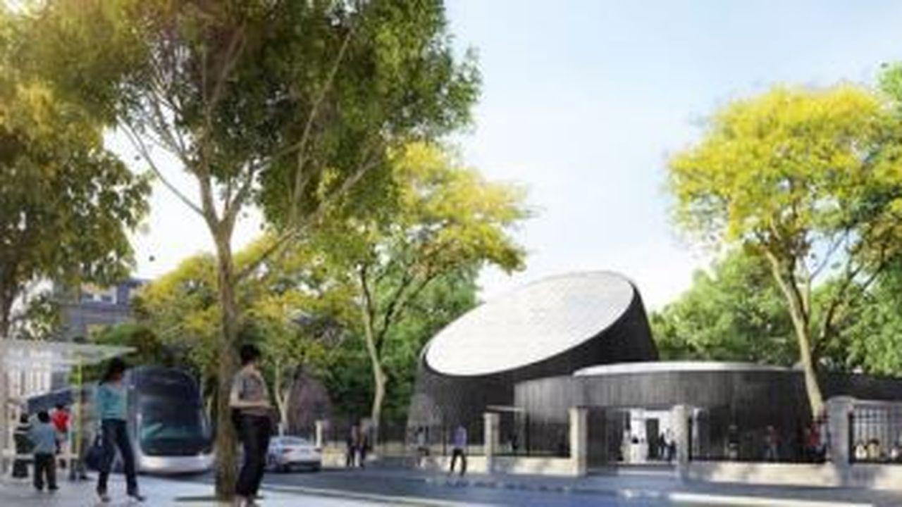 La salle sera équipée d'un écran dôme incliné de 15 mètres de diamètre.