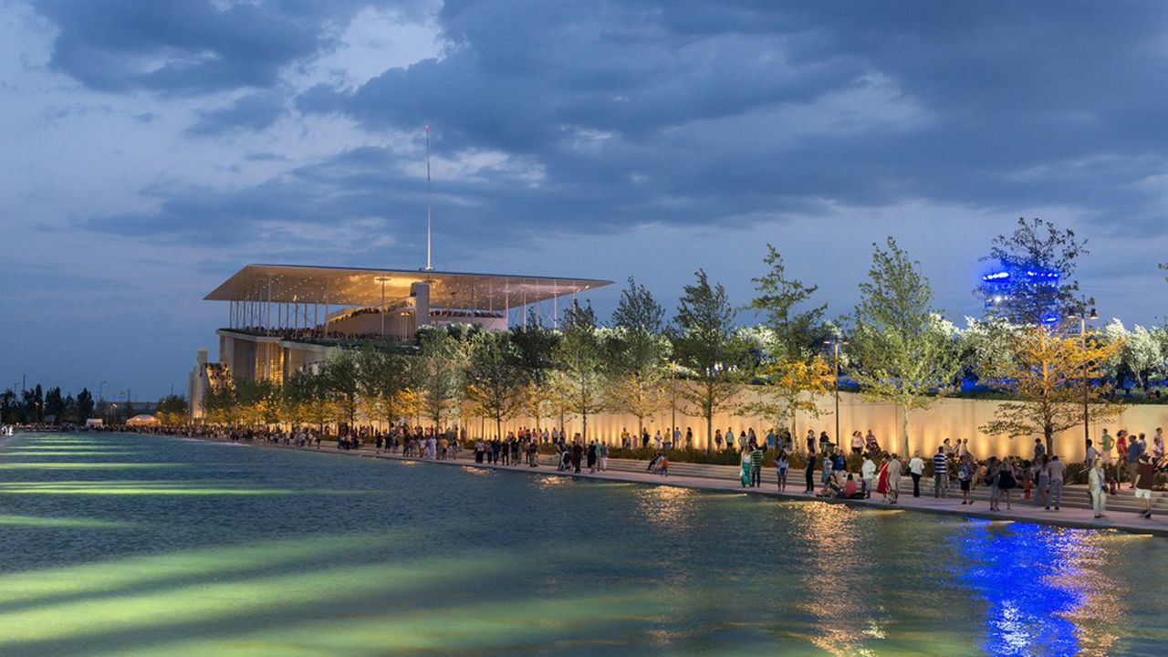 L'Opéra National de Grèce est hébergé dans un bâtiment à 861millions d'euros financé par la Fondation Niarchos