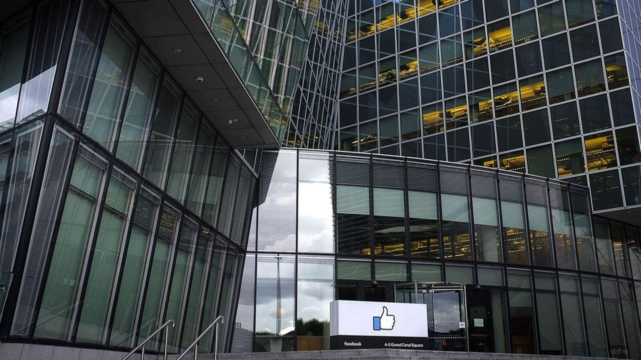 A Dublin en Irlande, le siège européen de Facebook, dans le quartier de Silicon Docks, à Grand Canal Square.