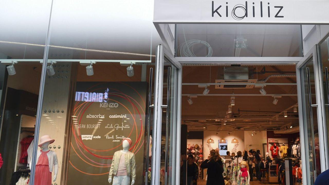Le leader de la mode enfantine, Kidiliz compte un réseau de 300 magasins.