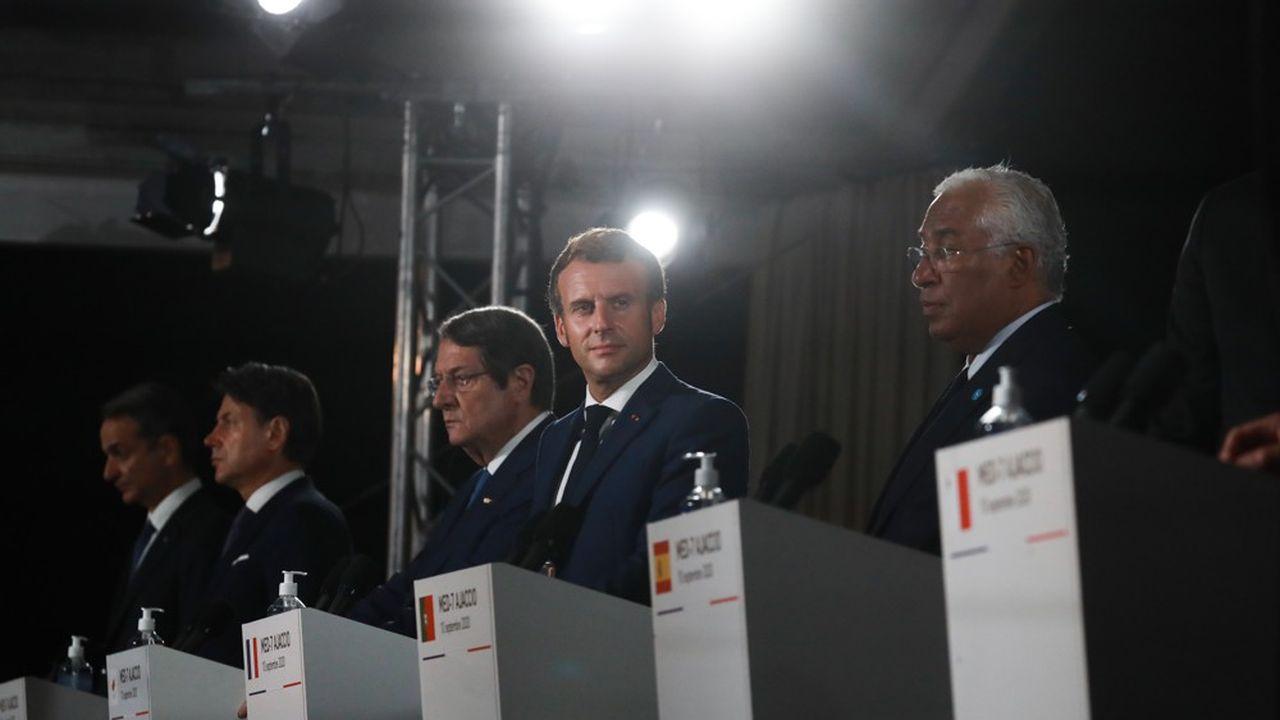 De l'Italien Giuseppe Conte au Portugais Antonio Costa, tous les dirigeants des pays méditerranéens de l'Union européenne réunis jeudi à Ajaccio ont misé sur le dialogue avec Ankara