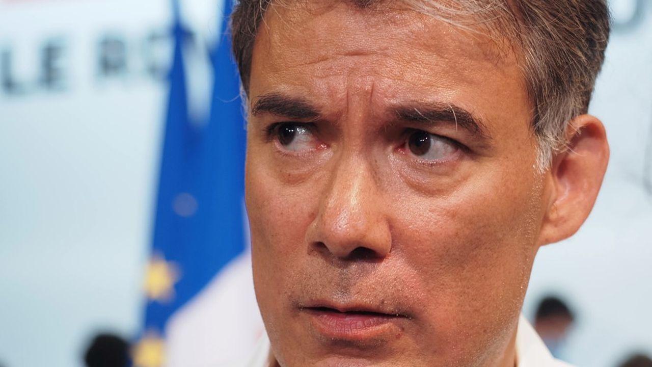 Olivier Faure, Secrétaire national du PS, lors de l'université d'été de son parti, à Blois le 29août 2020.