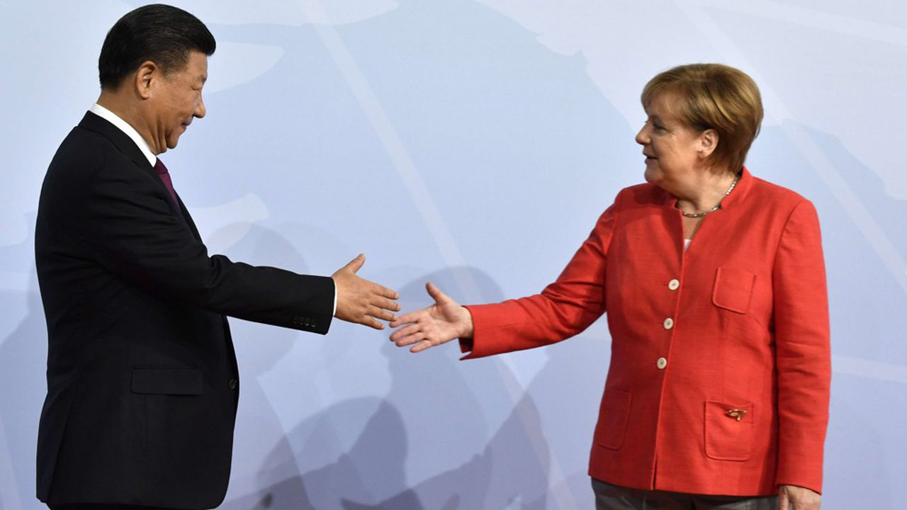 Le 7juillet dernier, la chancelière allemande Angela Merkel accueillait le président chinois Xi Jinping à un sommet du G20 à Hambourg.