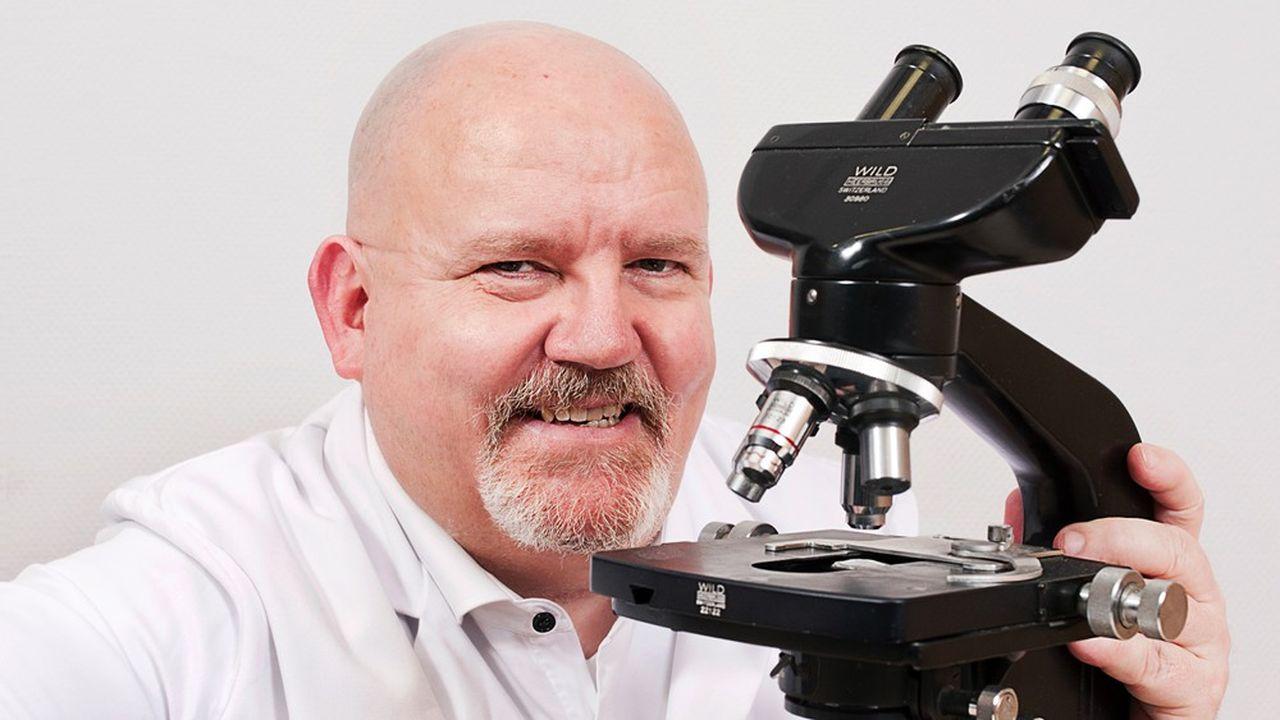 Philippe Verwaerde, le PDG de la société biopharmaceutique lilloise Alzprotect.