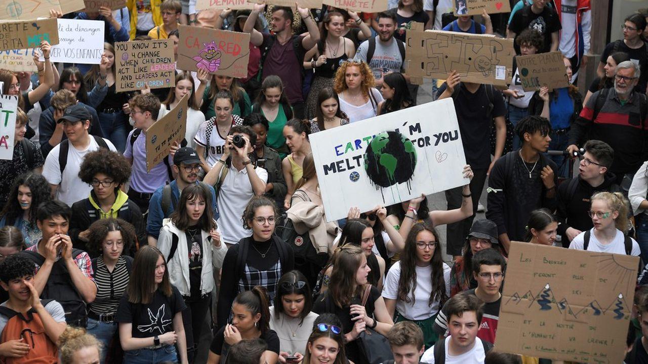 Le 24mai 2019, à Strasbourg, des jeunes avaient pris part à une journée de mobilisation contre le réchauffement climatique.