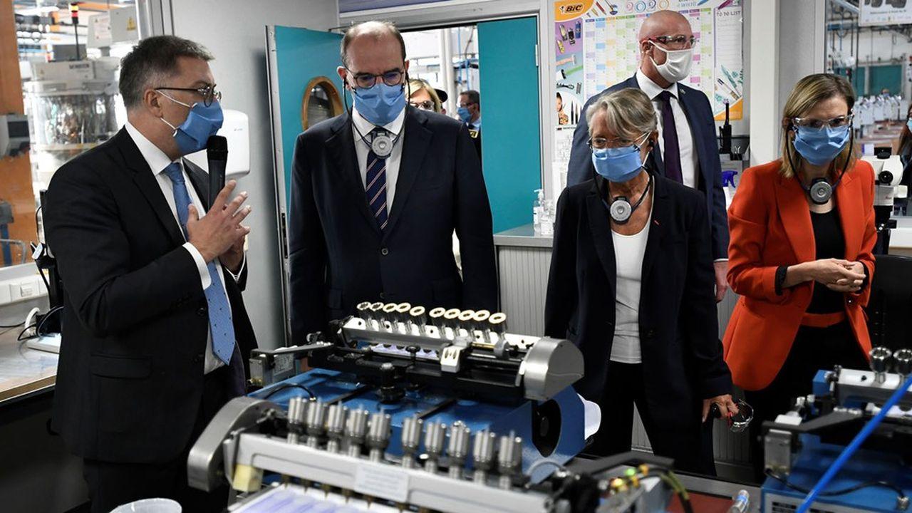 Le Premier ministre, Jean Castex, en visite dans une usine Bic de Seine-et-Marne, avant un bureau exécutif du Conseil national de l'industrie.