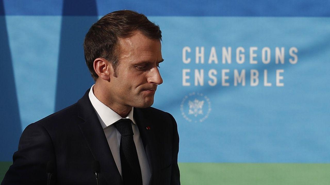 Le président de la République, Emmanuel Macron, au palais de l'Elysée le 27 Novembre 2018.