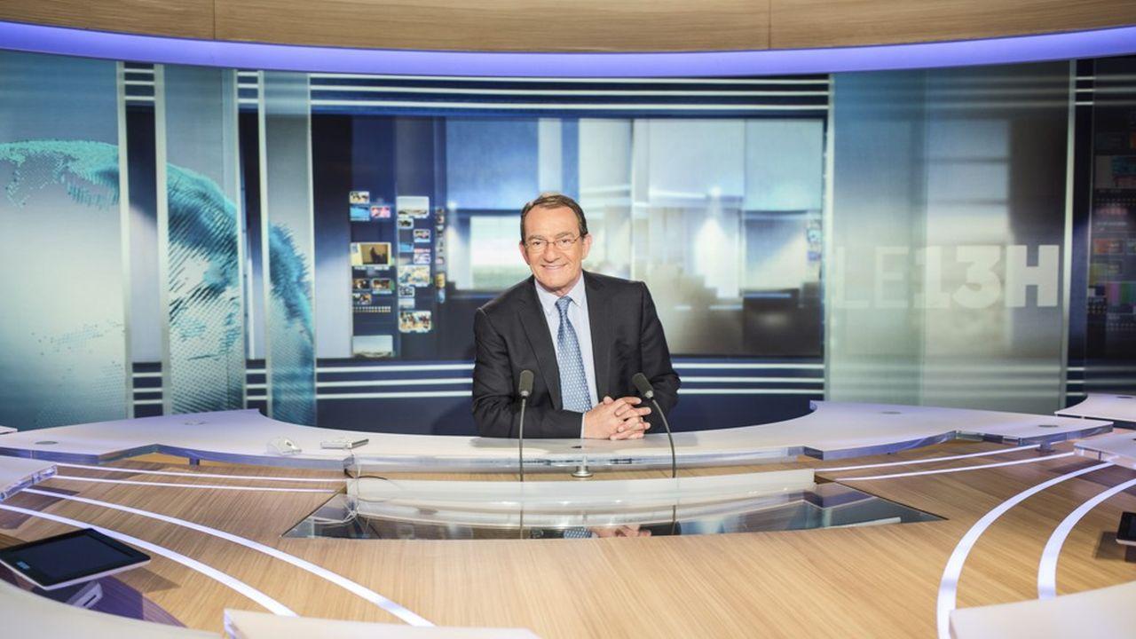 Jean-Pierre Pernaut sur le plateau du Journal Televise de TF1