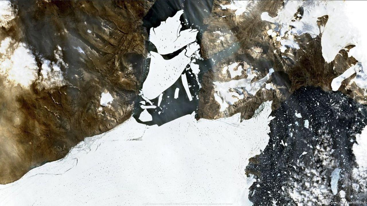 Le glacier Nioghalvfjerdsbrae, surnommé «79N», est le plus grand glacier d'Arctique.