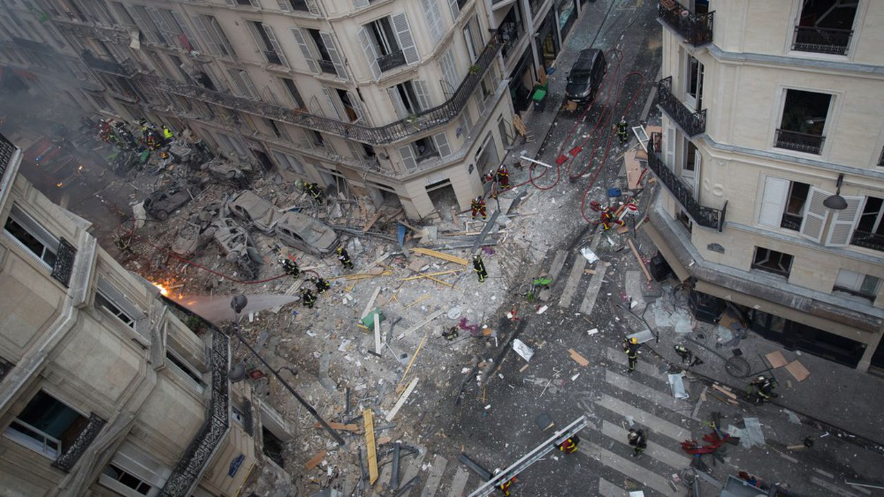 Une gigantesque explosion s'est produite en janvier2019 rue de Trévise, à Paris