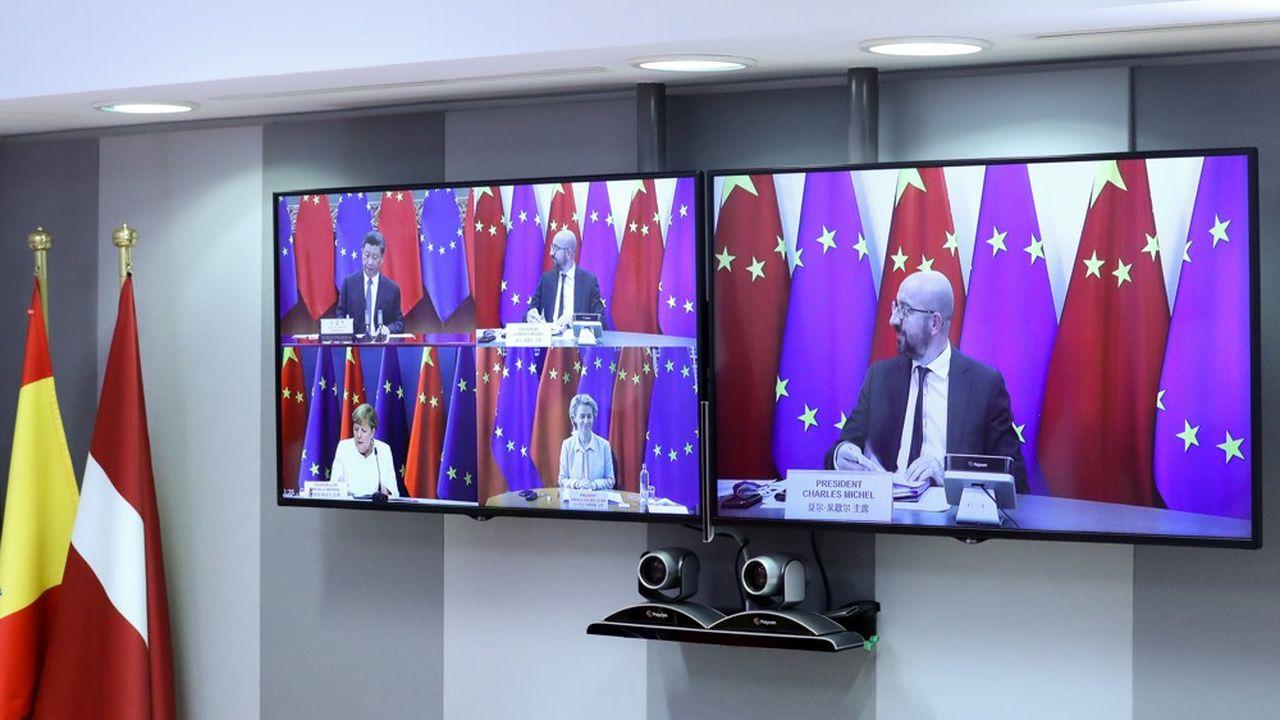 Compte tenu de la pandémie, les dirigeants ont dû se rabattre sur un sommet virtuel.