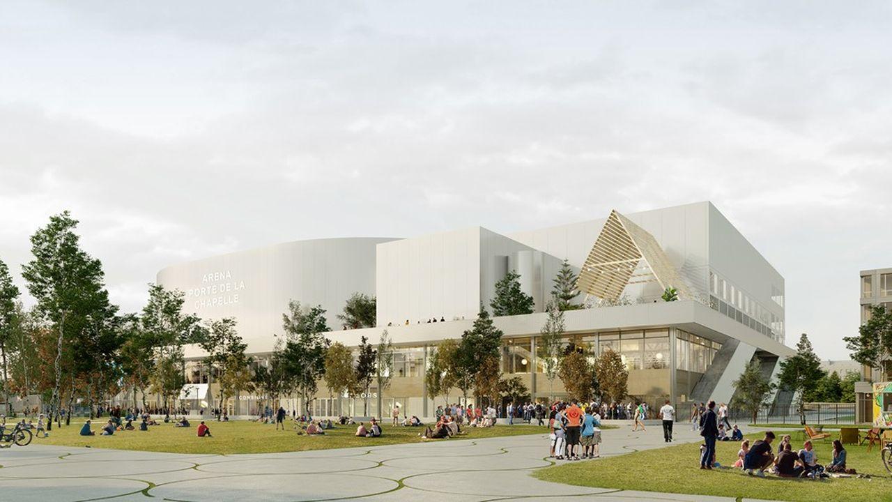 L'Arena, porte de la Chapelle, pourra recevoir des compétitions sportives de niveau national ou international.