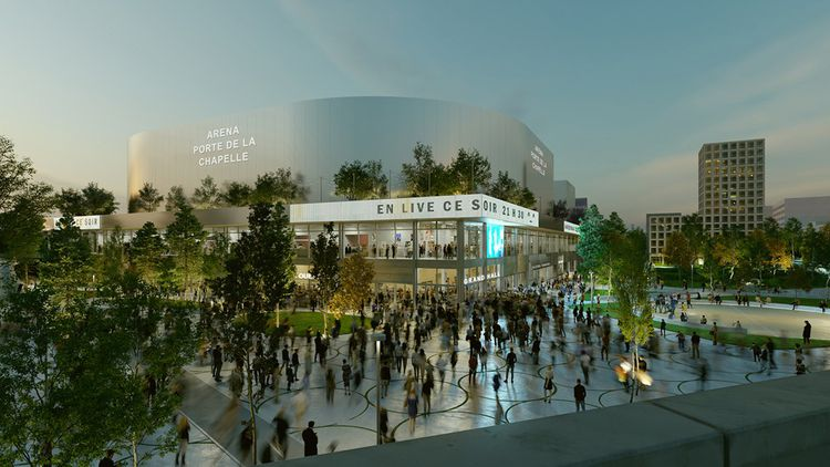 La future Arena, porte de la Chapelle, a été attribuée au groupement mené par Bouygues Bâtiment Île-de-France