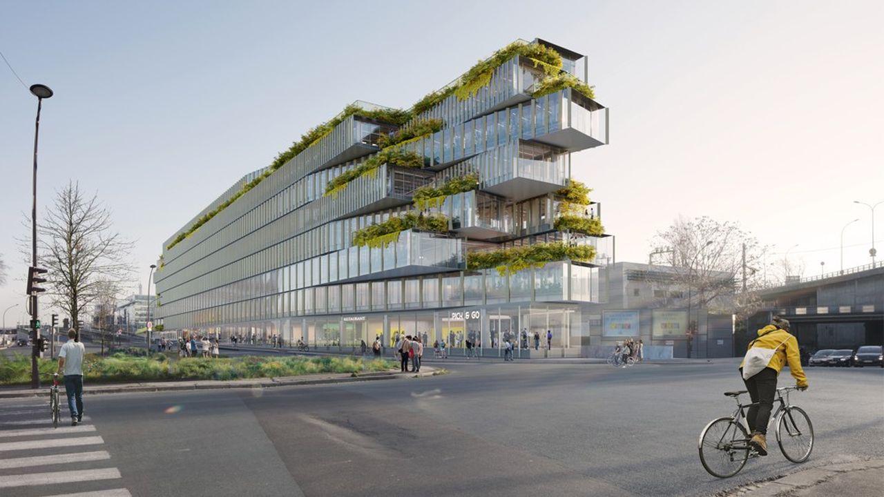Avec les architectes Kengo Kuma & Associates, Bouygues Immobilier développe au sud de Paris un projet d'immeuble ambitieux et bas carbone, baptisé «EDA».